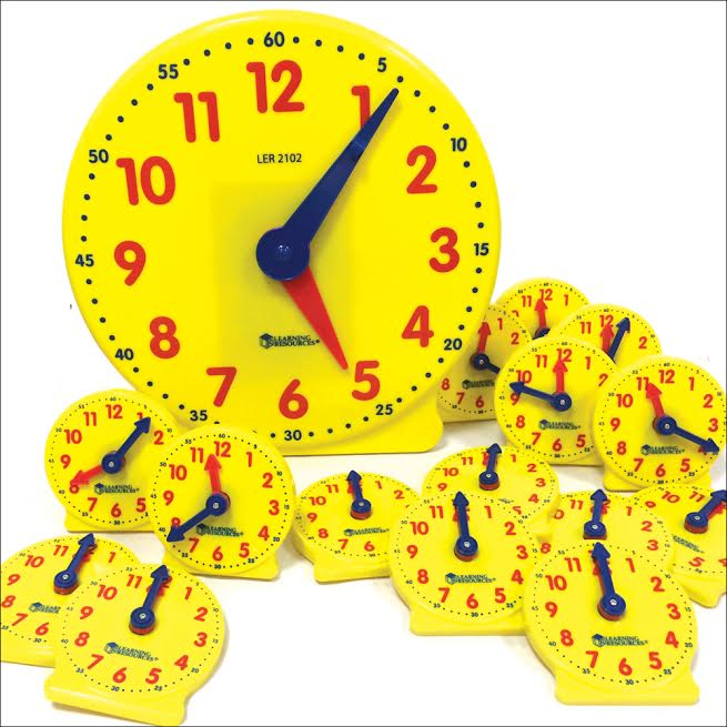 Large Teacher's Demonstration Clock and Student Clocks